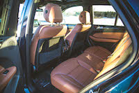 GLE 450 AMG rear seats