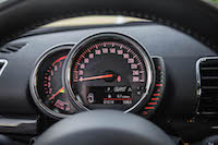 2016 MINI Cooper Clubman gauges tach speedo