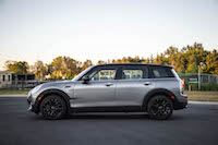 2016 MINI Cooper Clubman side view melting silver