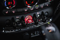 2016 MINI Cooper Clubman red engine start button