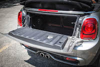 2016 MINI Cooper S Convertible trunk space hatch