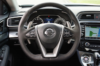 2016 Nissan Maxima SR steering wheel with paddle shifters