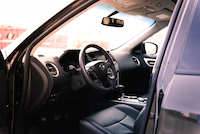 2016 Nissan Pathfinder Platinum black interior