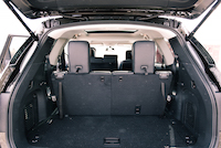 2016 Nissan Pathfinder Platinum trunk space
