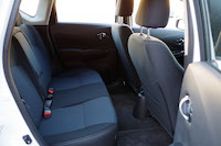 nissan versa note rear seats