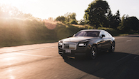 Rolls-Royce Wraith sunset driving