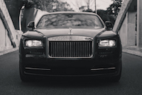 Rolls-Royce Wraith black and white picture