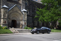 Rolls-Royce Wraith university of toronto campus downtown st.george