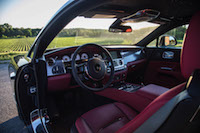 Rolls-Royce Wraith red interior cabin