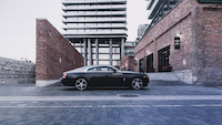 Rolls-Royce Wraith side view 21-inch wheels