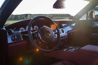 Rolls-Royce Wraith steering wheel cabin red black two tone
