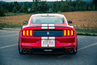 2016 Ford Shelby GT350 rear view quad exhausts spoiler