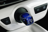 2016 Toyota Prius gear shifter blue