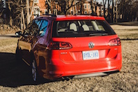 red golf sportwagon