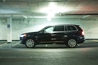 Volvo XC90 T8 PHEV Plug-in side view