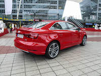2017 Audi A3 sedan rear view red