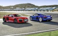 2017 Audi R8 V10 Plus red and blue portugal faro