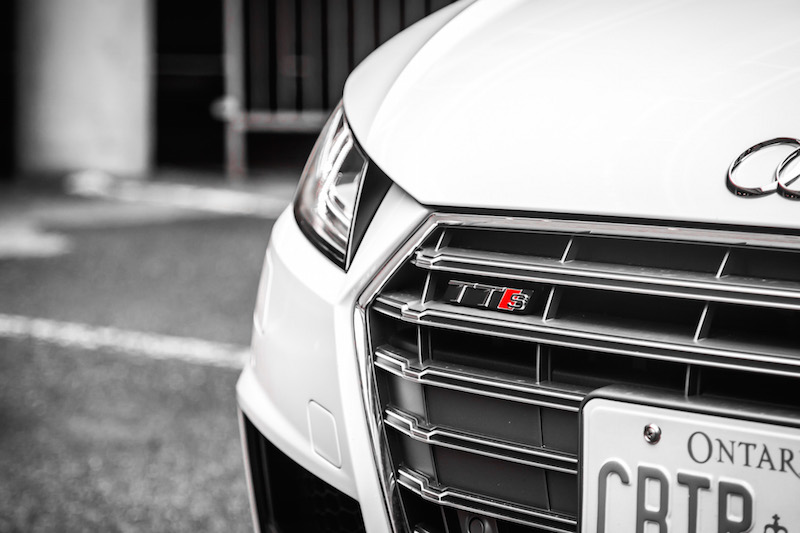 2017 Audi TTS front grill badge