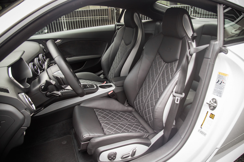 2017 Audi TTS front seats black leather