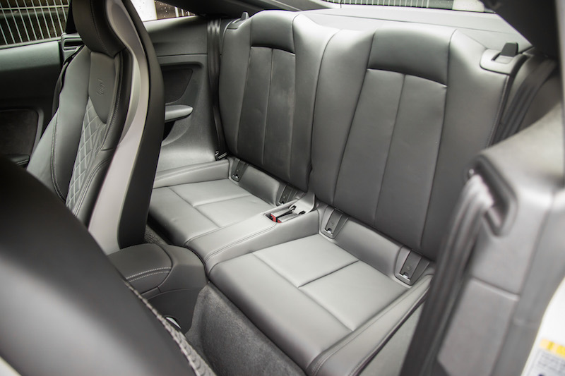 2017 Audi TTS rear seat legroom headroom