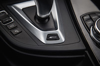 2017 BMW 330e electric edrive button