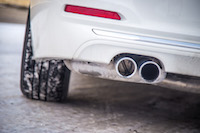 2017 BMW 330e fake exhaust tip blocked