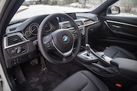 2017 BMW 330e black interior