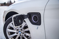 2017 BMW 330e plug in socket
