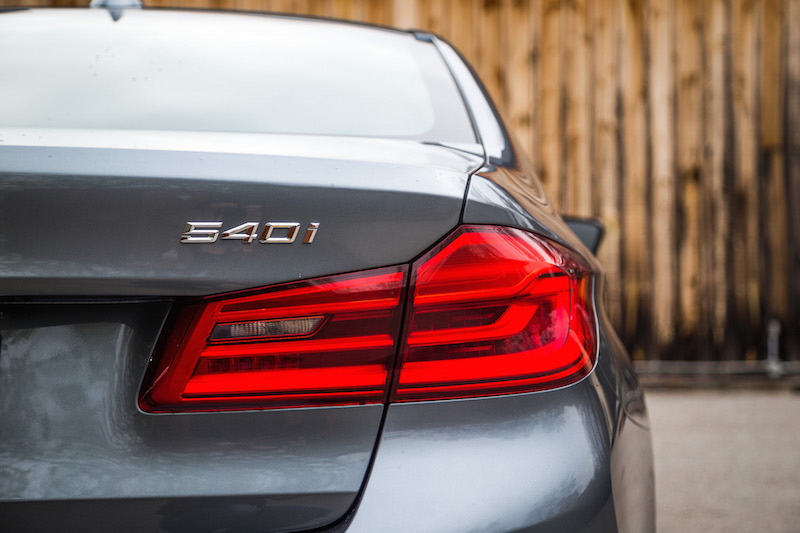 2017 BMW 540i xDrive tail lights