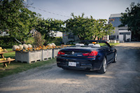 2017 BMW 650i xDrive Cabriolet rear view thanksgiving pumpkins