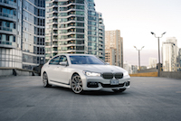 2017 BMW 7 Series white with m sport