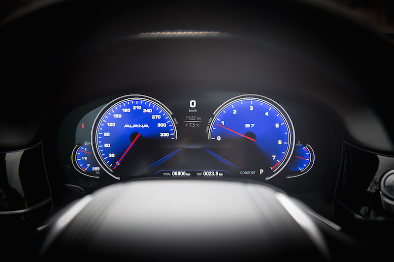 Alpina B7 Gauges comfort mode