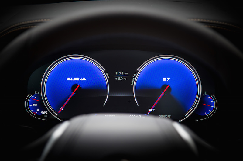 Alpina B7 Gauges engine off