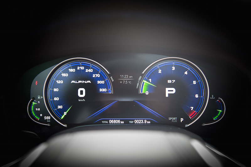 Alpina B7 Gauges sport plus mode