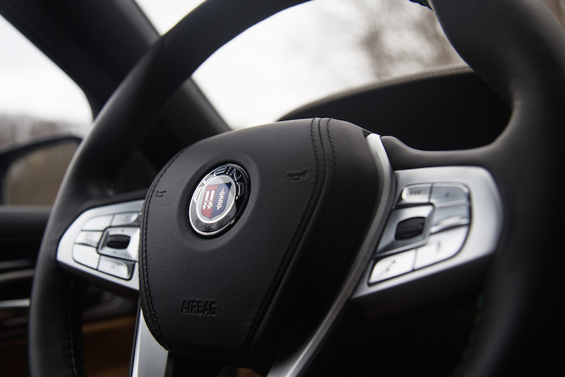 2017 BMW Alpina B7 xDrive logo on steering wheel