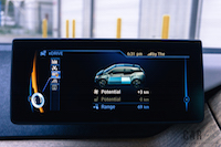 2017 BMW i3 charging display