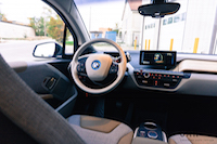 2017 BMW i3 dashboard