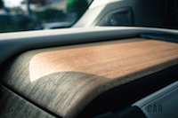 2017 BMW i3 wood panels on dash