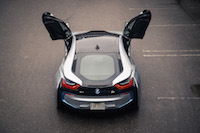 2017 BMW i8 rear gullwing scissor doors