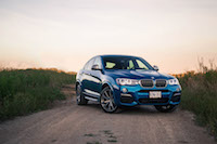 2017 BMW X4 M40i long beach blue colour paint