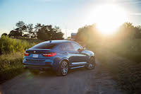 2017 BMW X4 M40i rear view exhausts