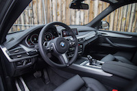 2017 BMW X5 black interior m steering wheel