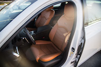 Cadillac CT6 Luxury cinnamon leather front seats