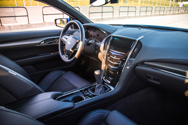 Cadillac ATS-V interior with manual transmission