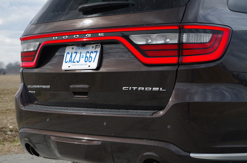 2017 Dodge Durango Citadel rear badge