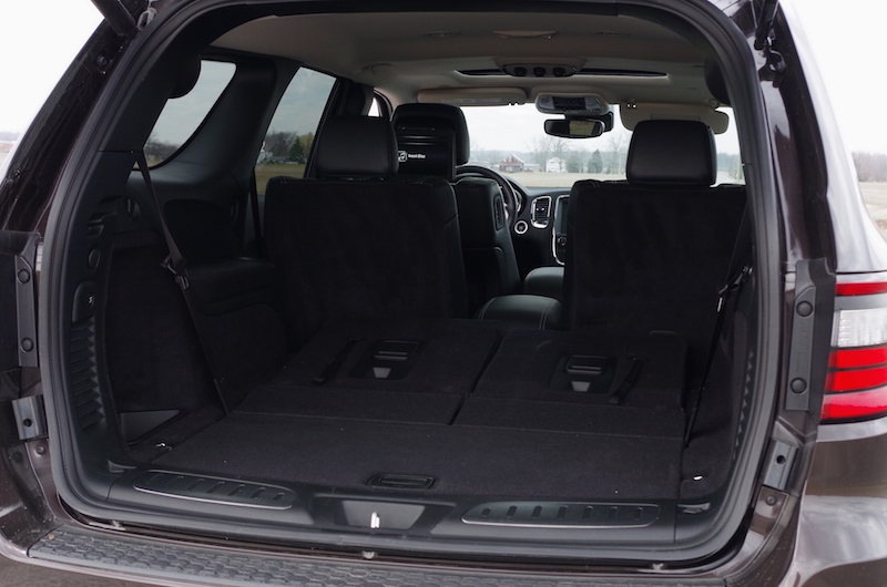 2017 Dodge Durango Citadel trunk third row folded down