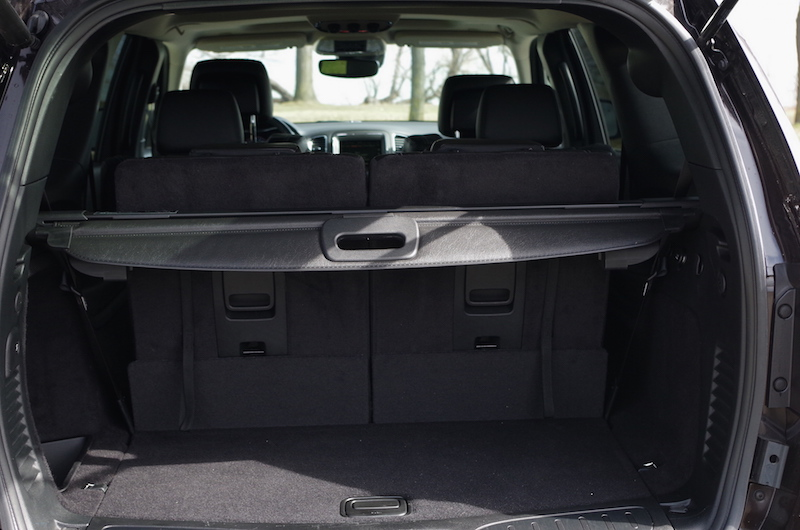 2017 Dodge Durango Citadel trunk cargo seats up