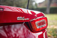 2017 Fiat 124 Spider Abarth rear badge