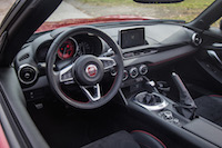 2017 Fiat 124 Spider Abarth interior steering wheel