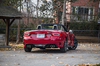 2017 Fiat 124 Spider Abarth rear view four exhausts